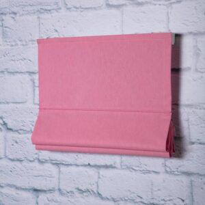 Римская штора c карнизом. Хлопок. Цвет розовый