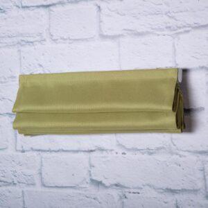 Римская штора c карнизом. Имитация льна. Цвет оливковый.