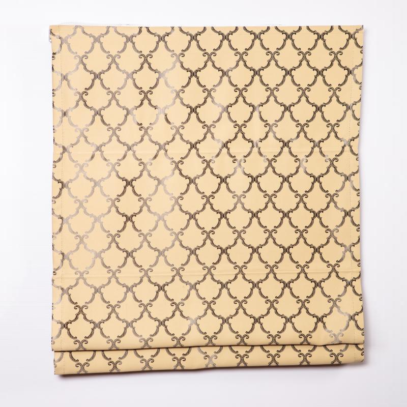 Римская штора с карнизом. Ткань Мирелла карамель