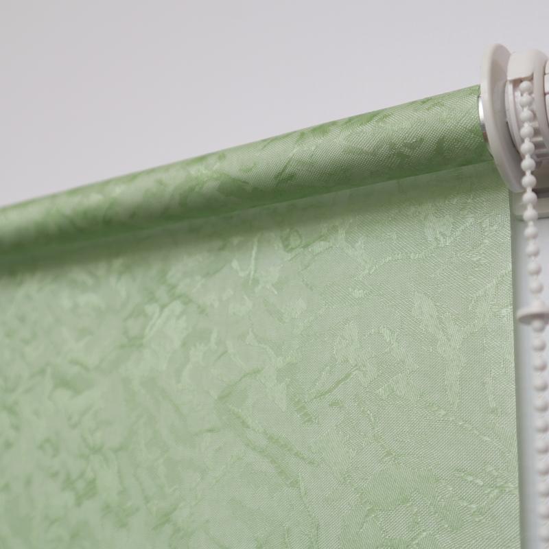 Рулонная штора. Шелк зеленый